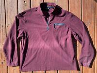ORVIS Trout Bum Waffle Fleece 1/4 Zip Sweater Jacket Purple Men's Size XL