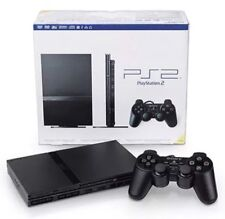 Black Sony PlayStation 2 SLIM Game Console PS2 Complete BUNDLE Lot in MINT Shape