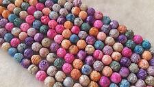50 Agates  craquelées perles semi-précieuses