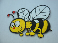 BEE WASP HORNET 7cm Embroidered Iron Sew On Cloth Patch Badge  APPLIQUE