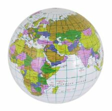 Inflatable Blow Up Globe 40cm Atlas World Map Earth Kids Children Education Toy