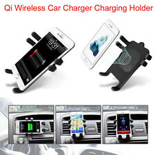 Qi Wireless Auto Ladegerät Charger Stand Dashboard Air Vent Mount 360° Universal