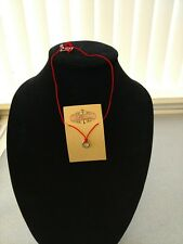Cord with Stainless Ring Charm - New! Plunder Design Jana Necklace - Short Red
