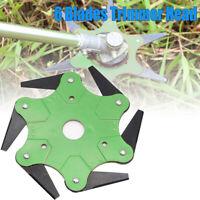 Trimmer Head 6 Steel Blades Razors 65Mn Lawn Mower Grass Weed Eater Brush Cutter