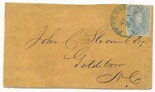 CSA Scott #4 Stone 2 on Cover Blue Petersburg VA CDS June 24, 1862