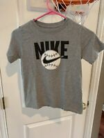 Nike Youth Tee Shirt S Gray Baseball