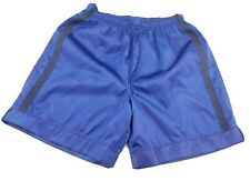 Used Athletic Works Satin Soccer Shorts (Collectors Item) Large Blue Glanz