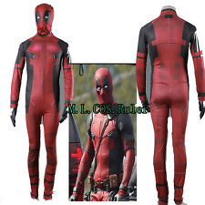 NEW Deadpool Cosplay Costume X-men Superhero Costume Jumpsuits Stretchy Gloves