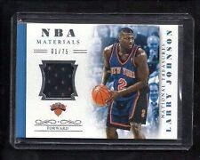 Larry Johnson 2013-14 National Treasures NBA MATERIALS Jersey #1/75! 1/1? Knicks