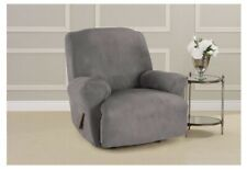 Genuine Surefit Ultimate Stretch Suede One Piece Recliner Slipcover- Slate