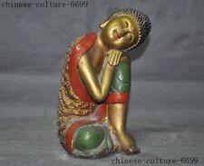 "8""  Tibet Buddhism bronze Gilt sleep Buddha Sakyamuni Shakyamuni Amitabha statue"