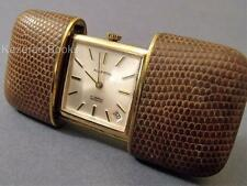 VINTAGE ART DECO Oro Placcato & Leather Pocket Purse watch working by MAPPIN