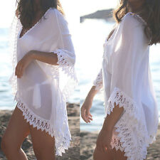 cb6c869664 Bikini Cover up Lace Crochet Kaftan Summer Dress Beach Wear Swimwear Sarong