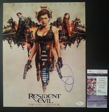 RESIDENT EVIL FINAL CHAPTER Authentic Hand-Signed MILLA JOVOVICH 11x14 photo