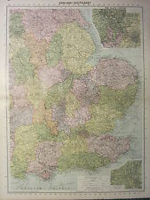 1939 MAP ~ ENGLAND SOUTH EAST ~ NORFOLK SUFFOLK POTTERIES BLACK COUNTRY