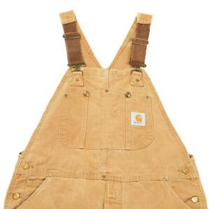 90s Vintage CARHARTT Workwear Dungarees | 36 x 32 | Bib Work Overalls Canvas