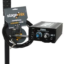 Personal Monitor Mixer IEM Headphone Amp - Elite Core EC-PMA-SP with 18ft Cable