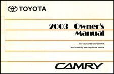 CAMRY 2003 OWNERS MANUAL TOYOTA BOOK OWNER'S