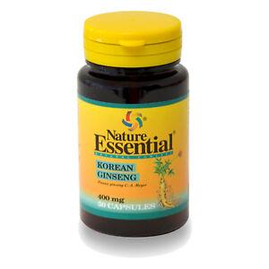 GINSENG COREANO 400 mg 50, 100, 150 o 250 Cápsulas - NATURE ESSENTIAL -