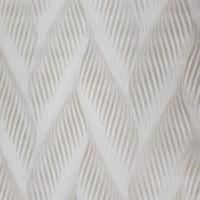 Zig zag wave Neutral tan taupe bronze metallic faux fabric textured Wallpaper 3D