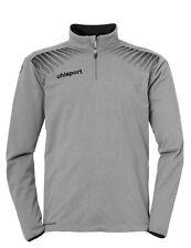 Uhlsport Mens Sports Football Training 1/4 Zip Track Top Sweatshirt Grey Black