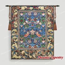 "William Morris Strawberry Thief Fine Art Wall Tapestries Cotton 100% 55""x43"", UK"