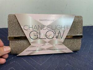 New Bare Minerals Evening Bag Purse Glamorous Clutch Gold Metallic Sparkle