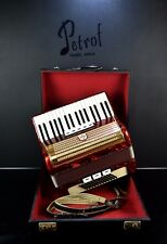 VINTAGE GERMAN TOP PIANO ACCORDION WELTMEISTER 60 bass+ORG. CASE~SUPER Accordian