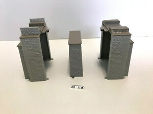 Vollmer 2531 H0 Brückenkopf-Garnitur und 2530 Mittelpfeiler, 3 Teile, 1:87
