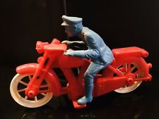 ORIGINAL VINTAGE CIRCA. 1960'S PLASTIC POLICE OFFICER ON MOTORCYCLE.