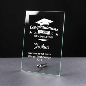 Personalised Congratulations On Your GRADUATION Gift Glass Plaque GP33