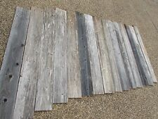 "48"" Weathered Barn Wood    8 Fence Boards    Reclaimed Old Wood Board Planks"