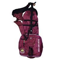 West Ham United Hammers Pencil Golf Bag Sunday Winter Bag RRP£50