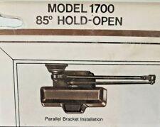 International Door Closers Model 1700 Door Closer Brown 85° Hold Open NOS 1986