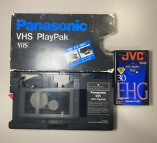 Panasonic VHS PlayPak VHS-C Motorized Converter Adapter VYMW0009 w/ Blank Tape