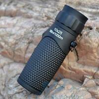 Monocular 10x25 Optics Zoom Lens Camping Hiking Hunting Telescope Scope Outdoor