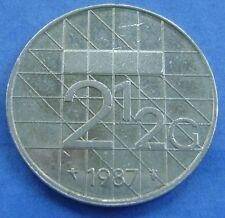 Nederland - Netherlands 2 1/2 gulden, rijksdaalder 1987   -  KM# 206