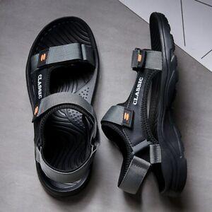 Sandalias De Cuero Para Hombre Chanclas Zapatillas De Verano Cómodas Y Frescas