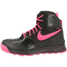 NIKE STASIS ACG GS BOOTS SHOES HIKING HIGH SNEAKER BLACK PINK WHITE 685610-002