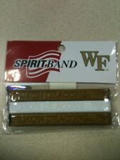 Wake Forest Deamon Deacons 3 Rubber Wristbands New