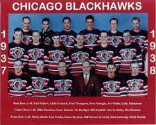 1937-38 CHICAGO BLACKHAWKS 2ND STANLEY CUP TEAM  8x10 PHOTO