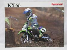 Vintage Kawasaki KX60 1990 Specifications Partial Dirt Bike Motocross Brochure