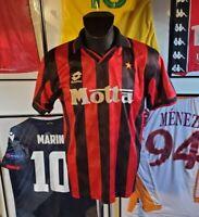 Maillot jersey maglia shirt ac milan milano 1993 1994 93/94 rare lotto motta M