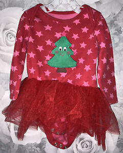 Girls Age 12-18 Months - Long Sleeved Christmas Dress