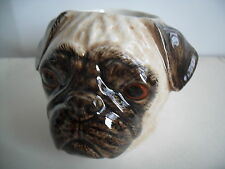 DELIGHTFUL PUG CERAMIC EGG CUP BY QUAIL POTTERY BOXED
