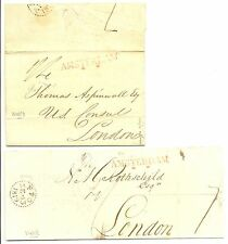 NEDERLAND 1819   2  x  LETTER TO LONDON    POSTMARKS SEE ALBUM PAGE!!!
