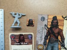 FREEDMAN KANOU THE ROCK    MINIATURE+CARDS/SKULL TALES PIRATE GAME ECLIPSE /G208