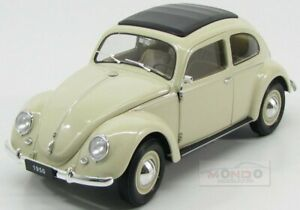 Volkswagen Beetle Classic Closed Roof 1950 Ivory Welly 1:18 WE18040IV