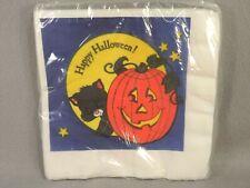 Halloween American Greetings Vintage 16 Napkin Package Unopened Cat Pumpkin