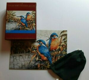 WENTWORTH Jigsaw Puzzle King Fishers Birds Wooden COMPLETE Approx 100 Piece Rare